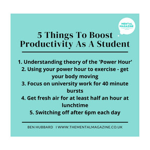 5 things I've learnt that boost my productivity as a student in lockdown