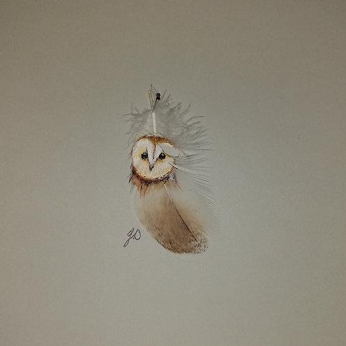 Barn Owl (Tiny) Downloadable Print