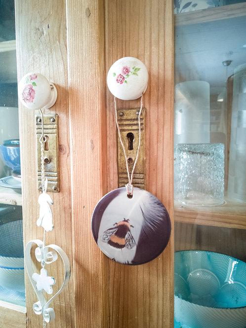 Bumblebee Ceramic Hanging Disc