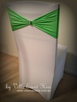 White Chair Cover with band