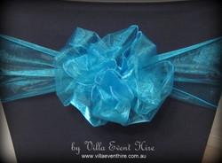 Teal Blue Organza Sash