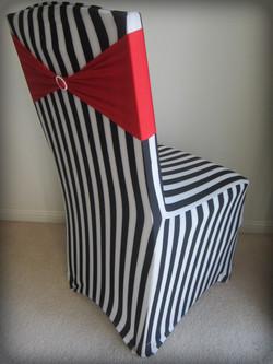 Black & White Striped Chair Cover