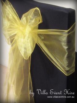 Yellow Organza Sash