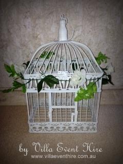 Birdcage Wishing Well White