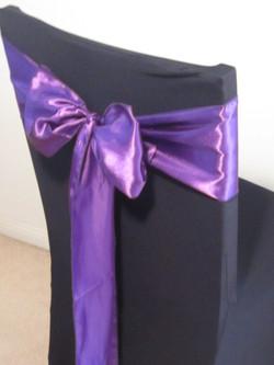 Purple Satin Sash