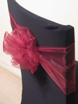Black Chair Cover with sash