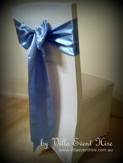 White Chair Cover with sash