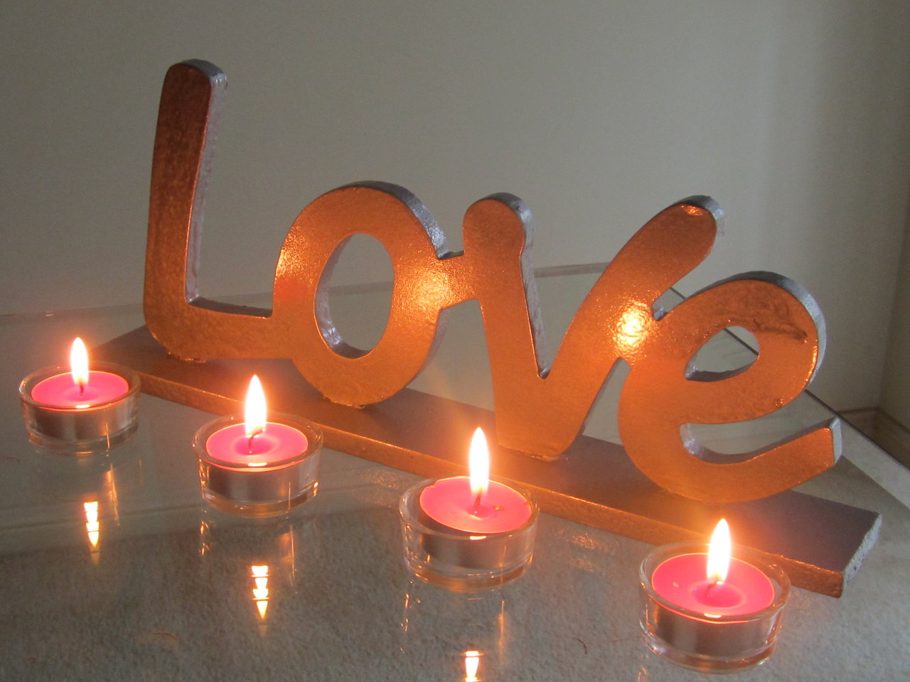 Love letters candles
