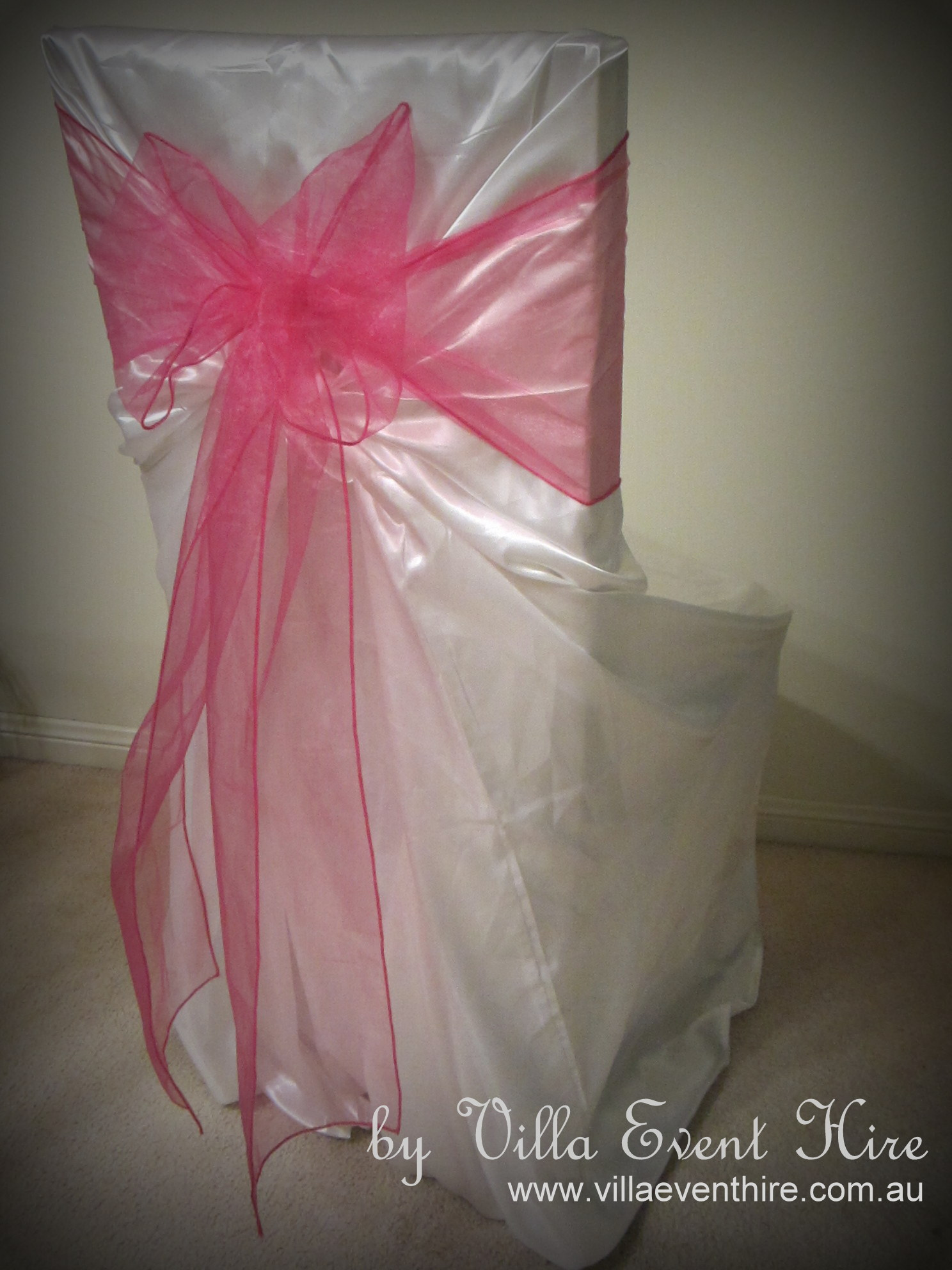 Satin Self Tie Chair Cover with sash