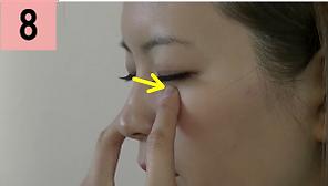 目の周りのツボ(下側)