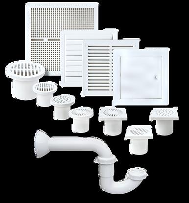 Rejillas para Ventilación y Desagüe PVC Morgan