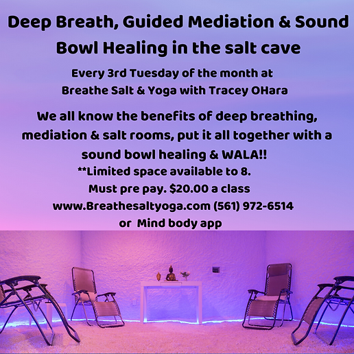 Deep Breathe & guided Mediation in the s