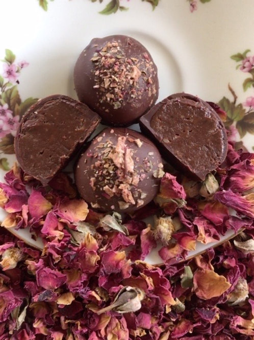 Dark Chocolate Rose parline