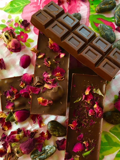 Rose Bar with candied rose petals