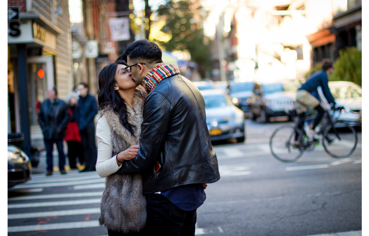Village engagement session NYC