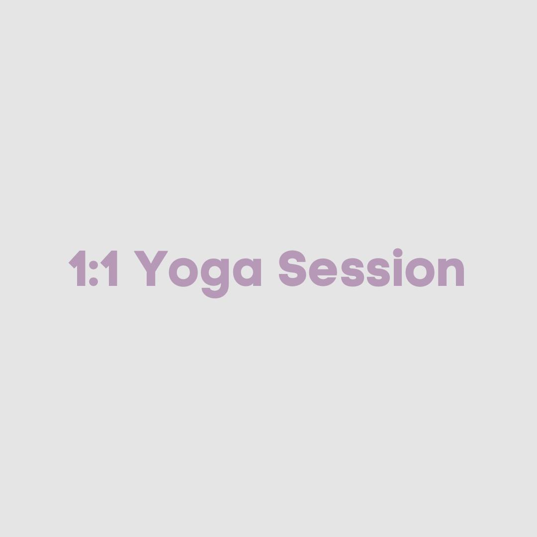 1:1 Private yoga session
