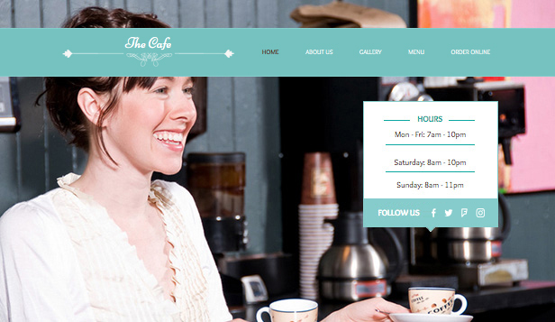Restaurants & Food website templates – My Cafe