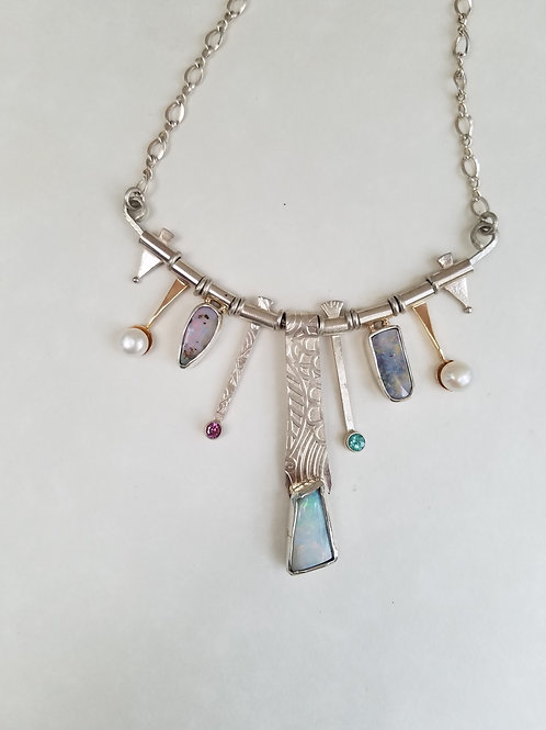 Ice Queen Opal Necklace