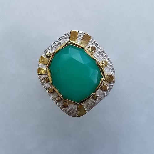 Rosecut Chrysophrase ring
