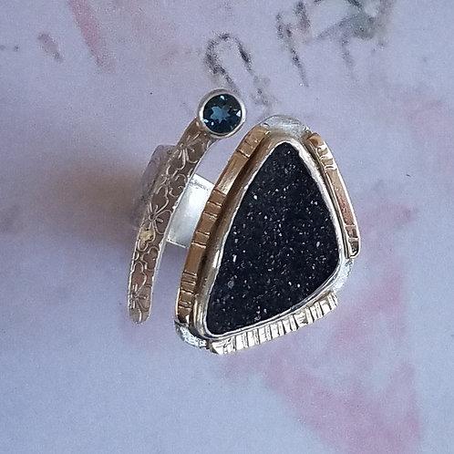 Black Druse Ring