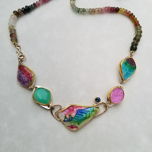 Ribbon Candy Necklace