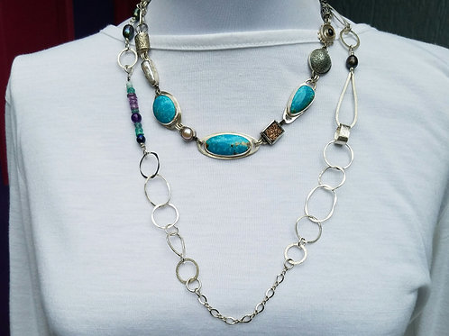 Layered Tuquoise with Chain