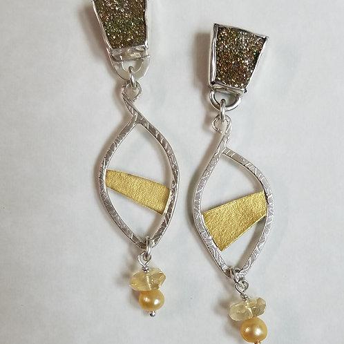 Golden Sunrise earrings