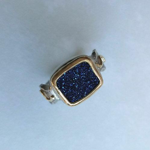 Cobalt Druse Ring