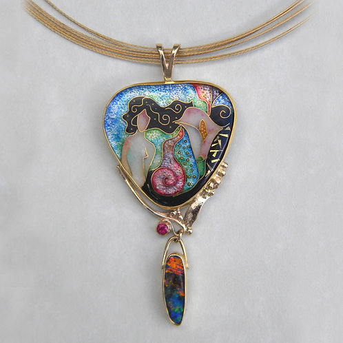 Mermaid with Lily Pendant