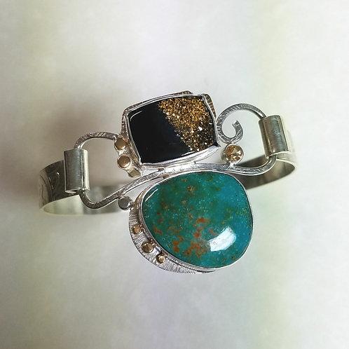 Turquoise and Druzy bracelet