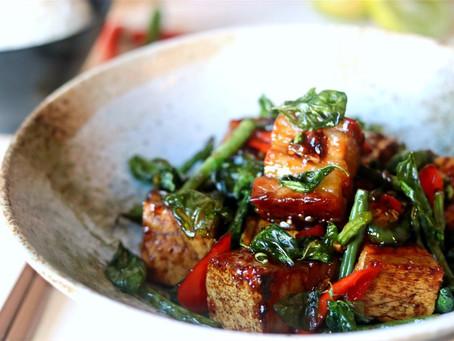 Kra Pao Moo Grob (Thai Crispy Pork with Basil)