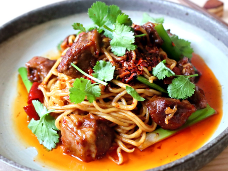 """Sichuan """"Mala"""" Lamb Noodles"""