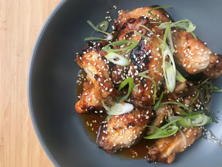 Grilled chicken wings with Honey Gochujang
