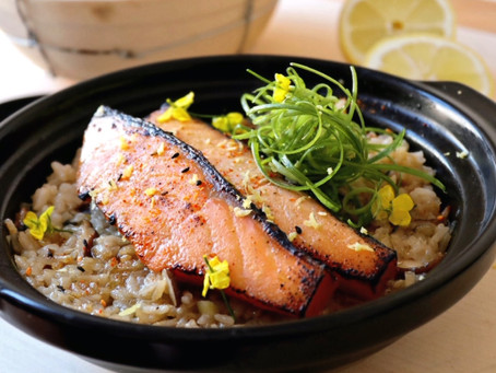 Miso Salmon Braised Rice