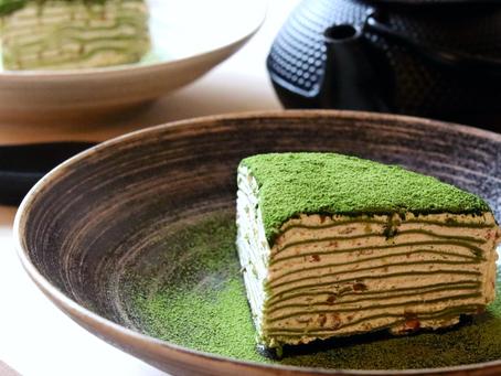Matcha Pistachio Crepe Cake