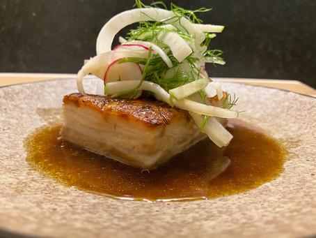 Pressed Soy Pork Belly - Fennel Apple Salad