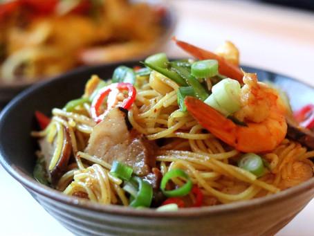"""Singapore"" Fried Rice Noodles"