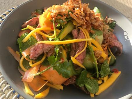 Mango Beef Herb Salad