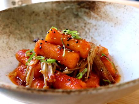Tteokbokki (Korean Rice Cakes Vegan)
