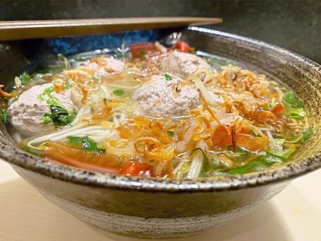 Brisket Meatball Noodle Soup