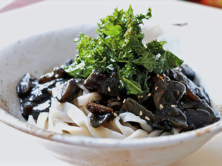 Jajangmyeon (Vegan Korean Blackbean Udon)