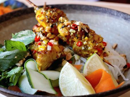 Turmeric Chicken Rice Noodle Salad