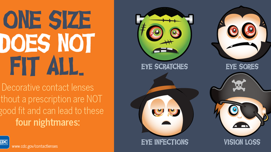 Halloween Contacts: One Size DOES NOT fit all.