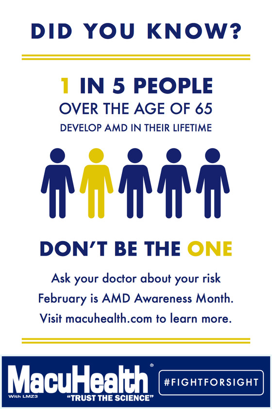 February is Age Related Macular Degeneration awareness month.