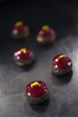 Profiteroles Cherry Pistachio