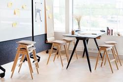Kreativ arbeidsrom med Knekk bord og kra