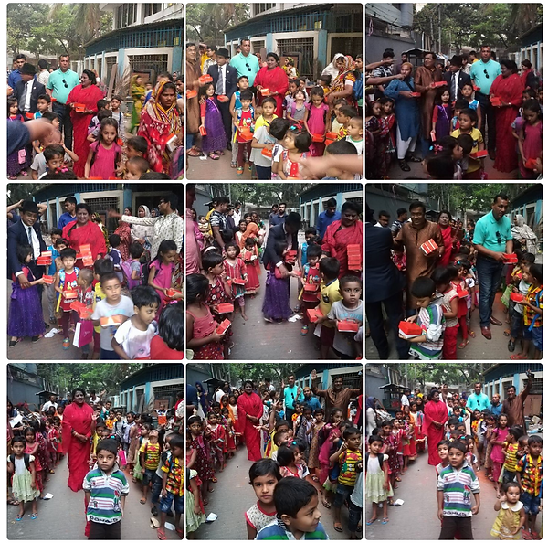 """The subject of """"Child Abuse Prevention"""" was discussed with the children they also sang the programme songs"""