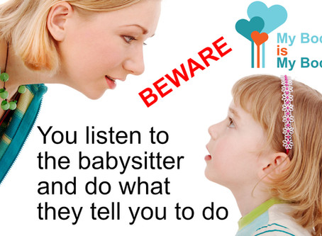 Be careful what you say to a child before leaving them with anyone !!