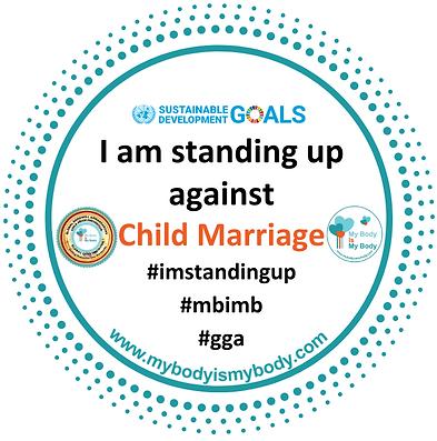 MBIMB I am standing up against Child Mar