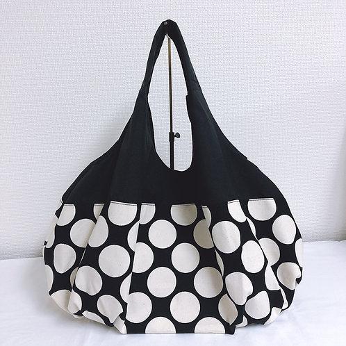 ドットバルーンバッグ(ブラック×ホワイトドット)